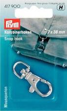 Prym Karabinerhaken mit Öse Haken 7x38 mm silberfarbig 417900