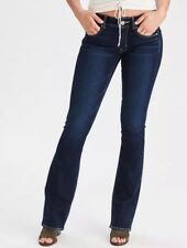 American Eagle 14 Kick Boot Cut Deeply Colbolt Super Stretch Mid Rise Jeans