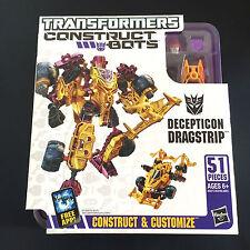 NUOVA costruzione Transformers Bot dei Decepticon Dragstrip - 51 pezzi da Hasbro