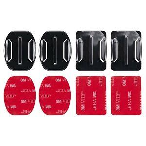 3M Adhesive Sticky Pads Mounts fits GoPro Hero Flat Curved Base Helmet Sticker