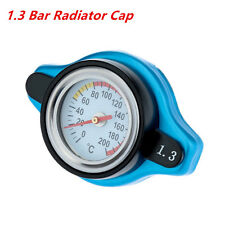 New Universal Small Blue Head 1.3 Bar Safety Thermo Temp Gauge Radiator Cap