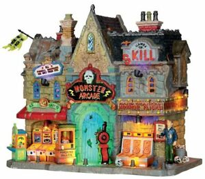 Lemax Spooky Town Village Monster Arcade 35551 Lighted Building Retired