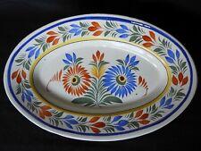 H] Grand plat ovale ancien début XXème faïence de QUIMPER HENRIOT (N°1)