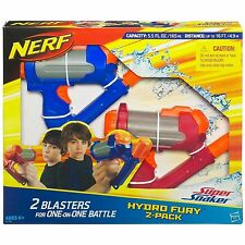Brand New NERF Super Soaker HYDRO FURY Blaster ~ Mini Water Pistol 2 PACK
