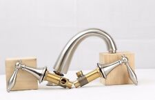 Silver Classic Kitchen Sink Faucet Mixer Sanitary Ware Tap Bathroom Bathroom