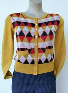 Cardigan, 'Banned Apparel', 1950's inspired, Mustard (last one S)