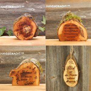 Holzschilder Dekoschilder Baumscheibe mit Spruch Geschenke Valentinstag Schilder