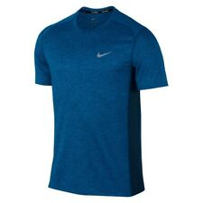 Nike Breath Miller Running Men's Top Short Sleeve T-Shirt Blue S 834241-435