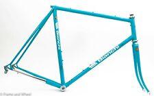 1986 Bianchi Giro 59cm steel frameset Dura-Ace 7400 headset BB vintage celeste
