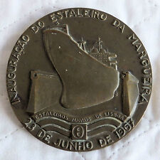 PORTUGAL 1967 SHIPYARD OF LISBON LARGE 90mm BRONZE MEDAL - leopoldo de almeida