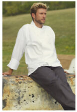 White Chef Coat. Mesh Back, Cloth Buttons, Long Sleeve, Size: 3XL - 481