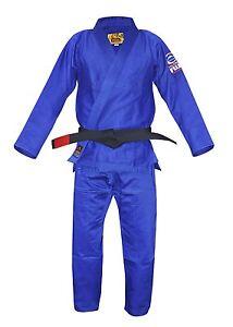 New Fuji Sports All Around Mens Brazilian Jiu Jitsu Gi Jiu-Jitsu BJJ - Blue