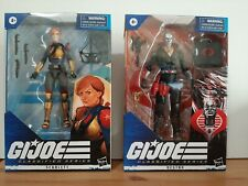 HASBRO GI JOE CLASSIFIED SERIES DESTRO NO CIRCLE /SCARLETT ACTION FIGURE PAIR