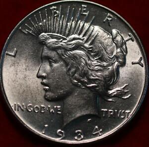 Uncirculated 1934 Philadelphia Mint Silver Peace Dollar