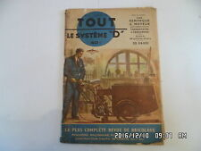 SYSTEME D N°74 02/1952 REMORQUE A MOTEUR PLANCHER BETON ARME BATEAU PLIANT   H69