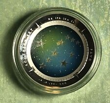 2013 $5 SILVER PROOF COLOR PRINTED DOME COIN PAVO CONSTELLATION, FREE SHIPPING