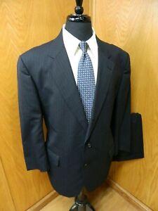 Brooks Brothers Brooks Mens Suit 46r 41 X 27.5 Dark Blue P.S Brooks Ease T-120