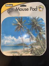 Fellowes Optical Mouse Friendly Pad Yellow Tropical Island 58395-33