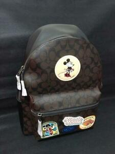 COACH x DISNEY Collaboration Backpack Unisex Mickey Mouse Minnie Mouse New