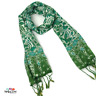 Silk Scarf   Blue or Green or Brown and Orange   Ladies Floral Design   Long