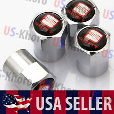 SEAT Car Logo Valves Stems Caps Covers Chromed Wheel Roundel Tire Emblem USA
