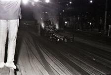Front Engine Dragster - Nighttime Race - Vintage 35mm Drag Racing Negative