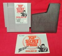 Gologo 13 + Manual DUSTCOVER Nintendo NES Game Rare Tested Works Great Authentic