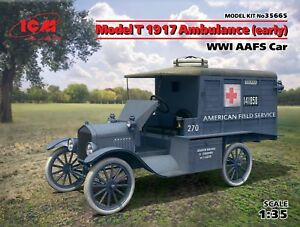 Model T 1917 Ambulance (early), WWI AAFS Car 1/35 ICM 35665