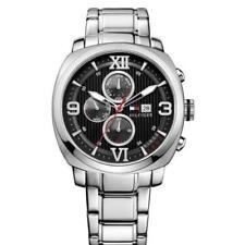 New Tommy Hilfiger Steel MultiFunction 24 Hour Men Dress Watch 45mm 1790981 $155