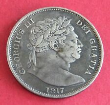 More details for 1817 george iii bull head silver half crown