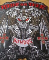 Large Embroidery Patches for Jacket Back Vest Motorcycle Biker Iron on Sword Sku