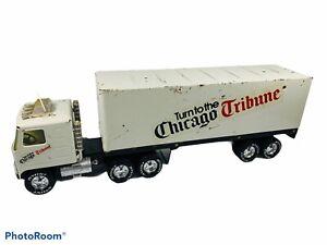 🔥 Vintage • Nylint Chicago Tribune 18 Wheeler Semi Truck Trailer • USA • Rare
