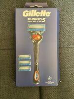 New  Gillette ProGlide Fusion 5 UEFA Champions League Limited Edition Razor