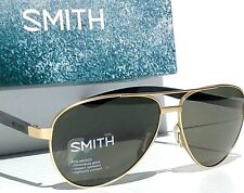 NEW* SMITH Salute Matte GOLD 59mm AVIATOR POLARIZED Green Len Sunglass