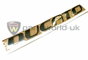 FIAT DUCATO MAXI 2002-2017 Rear Trunk Badge Nameplate Emblem Chrome SET