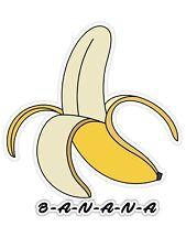 "Gorilla Banana Cartoon Car Bumper Sticker Decal  /""SIZES/"""