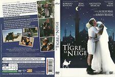 UNIQUEMENT LA JAQUETTE POUR DVD : LE TIGRE ET LA NEIGE avec ROBERTO BENIGNI