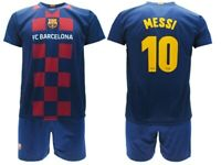 KIT Maglia+Calzoncini Calcio MESSI N 10 Ufficiale Barcellona 2019-2020 LEO