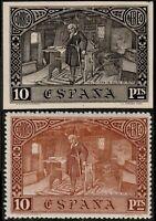 ESPAGNE / ESPAÑA 1930 Ed.558/Mi.529 Ensayo de Plancha en Negro con Sello Normal