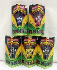 Bandai Mighty Morphin Power Rangers Lot of 5: Blue, Yellow, Pink & More NR