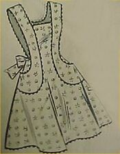 SALE Vintage Bib Full Size Apron Pattern Classic Details Sewing Fabric Project