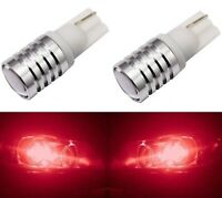LED Light 5W Red 194 T10 2825 Two Bulbs License Plate Tag Upgrade Fit Show Use