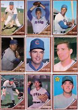1962 vintage Cubs partial team set 9 cards 2 RC