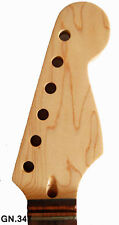 Dot Inlay Handmade-Solid Maple Electric Scalloped Guitar Neck - Free Logo GN.347