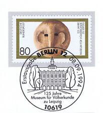 BRD 1994: Völkerkundemuseum Leipzig Nr 1751 mit Berliner Ersttagsstempel 1A 1708