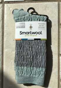 NWT SmartWool Women's Color Block Cable Crew Frosty Green Sz Medium