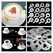 16Pcs Coffee Cake Cupcake Plastic Stencil Template Mold Decoration Tool Home