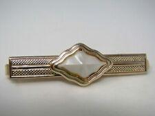 Vintage Tie Bar Clip for Men: Aluminum White Center