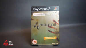 PS2 RESIDENT EVIL 4 LIMITED EDITION STEELBOOK TIN COMPLETE FAST