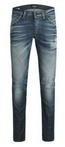 Jack & Jones Pantalon Homme Jeans Neuf Bleu Denim W 29 30 32 34
